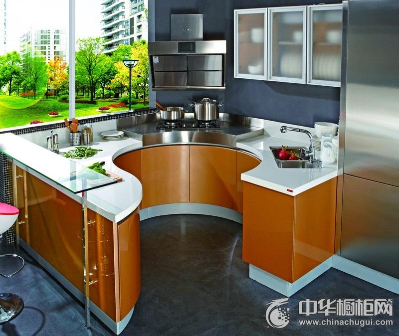 LOFT风格厨房橱柜装修效果图 烤漆橱柜设计效果图