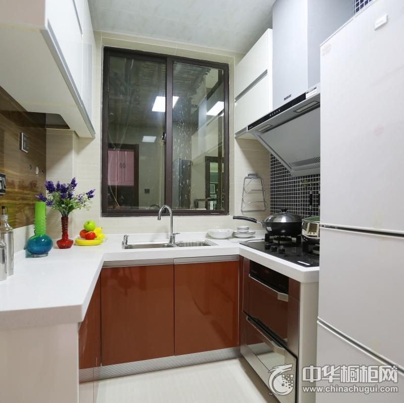 67平两居室橙色简约风格整体橱柜图片 橙色整体橱柜图片