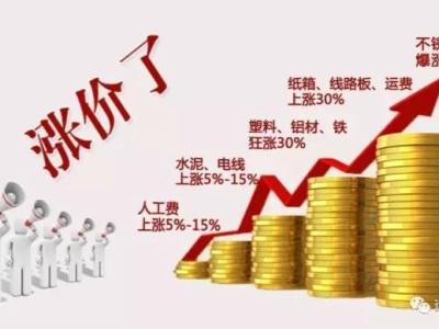 家具家电行业价格正在大幅上涨!最猛烈的涨价潮来临!!